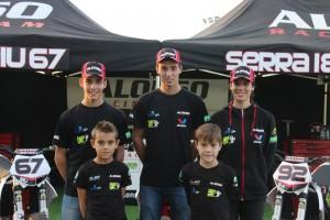 Franc Serra i Gerard Riu junts al Dirt Track de Lleida