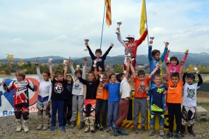 Més de 70 pilots han participat avui a la Lliga Catalana de Nens de Motocròs  a Olvan