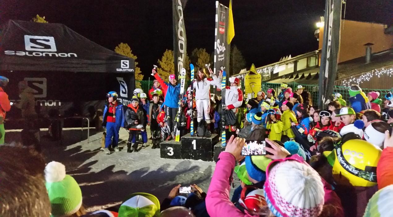 La berguedana Aura Coronado guanya la cursa d'esquí Salomon del CEAC