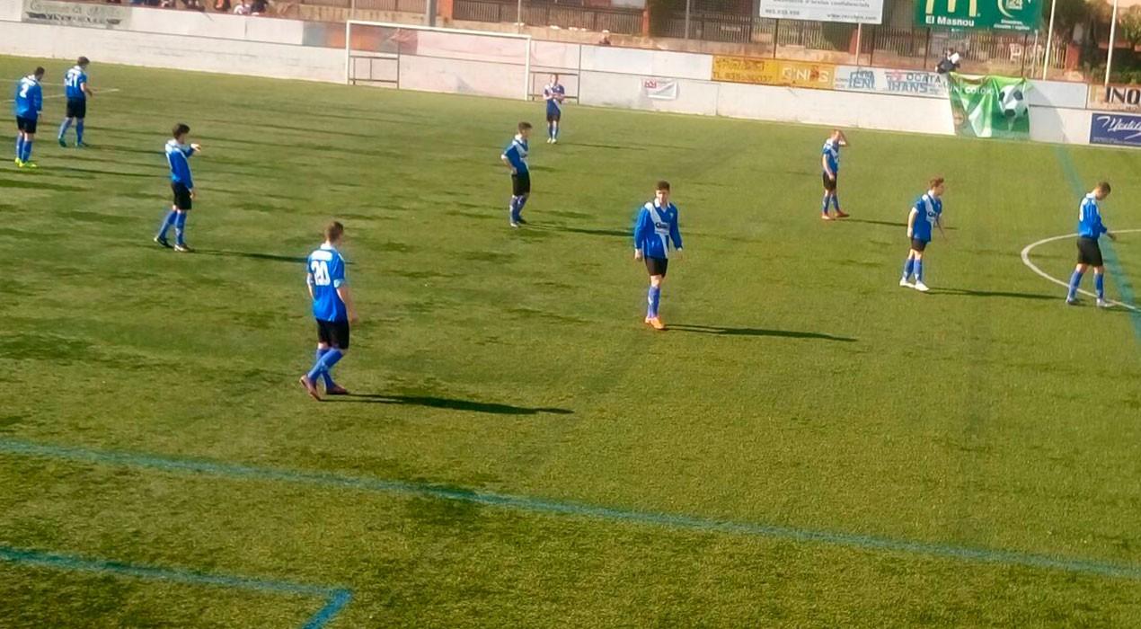 Derrota perillosa de l'Avià a El Masnou que estreny encara més la part baixa de Primera Catalana (3-1)