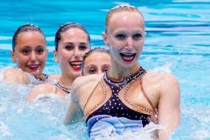 La berguedana Ariadna Arisó, medalla de bronze a l'europeu de Belgrad de natació sincronitzada