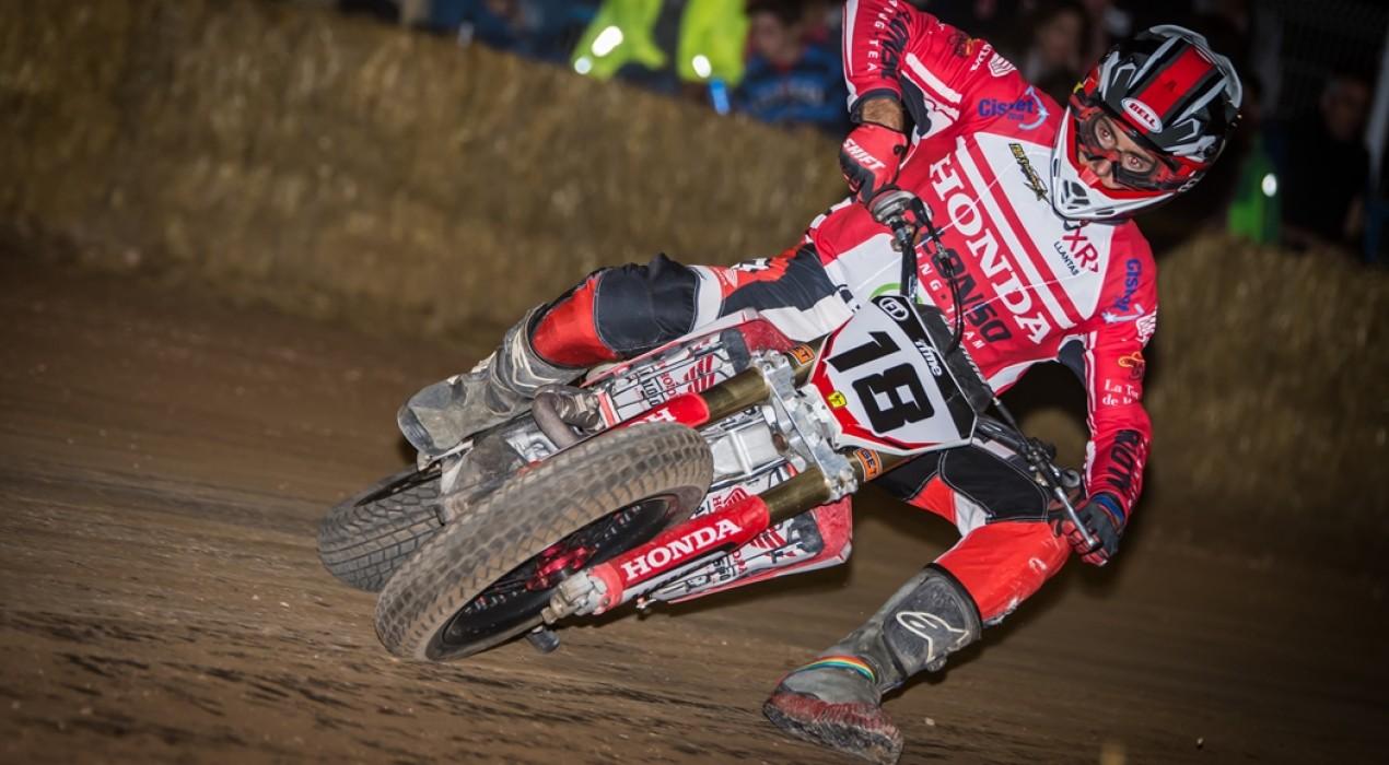 Franc Serra és quart al Dirt Track de Castellnou de Seana