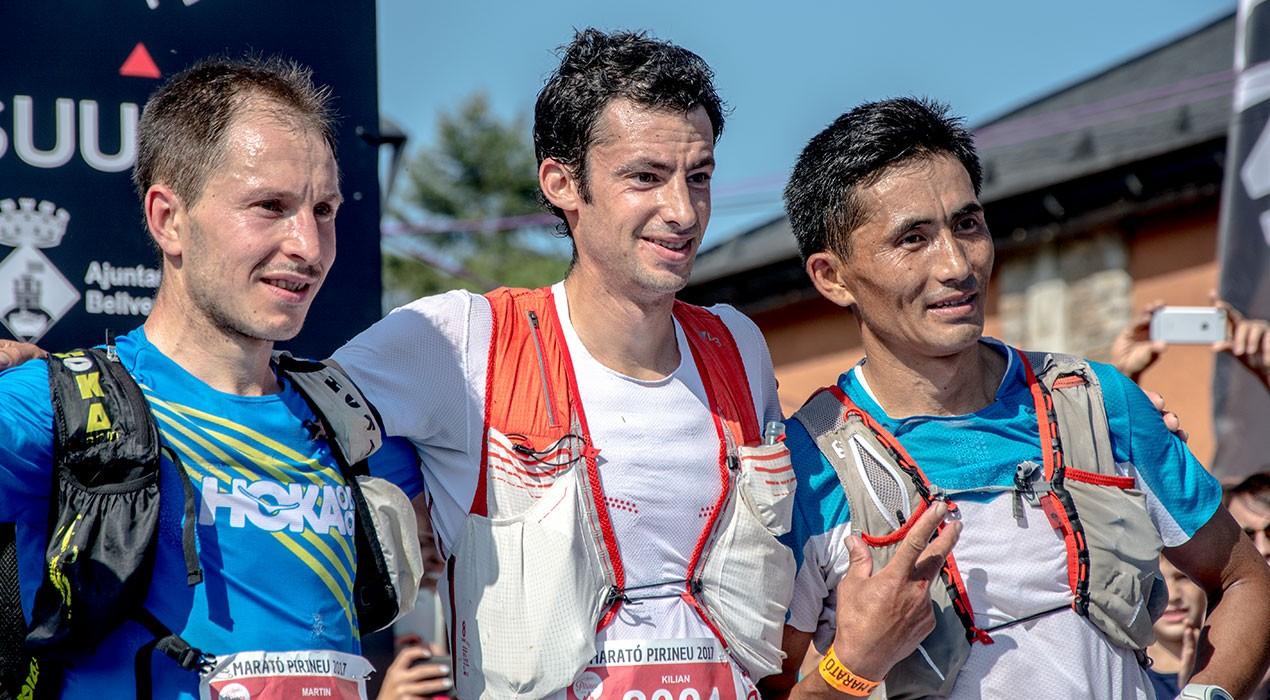 Kilian Jornet fa bons els pronòstics i s'endú la Marató Pirineu per només 26 segons