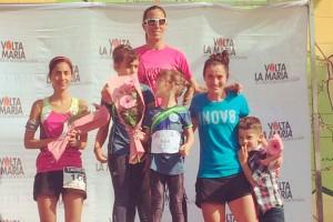 Riki Hierro i Vanesa Chirveches pugen al calaix més alt del podi de la Volta La Maria 2017