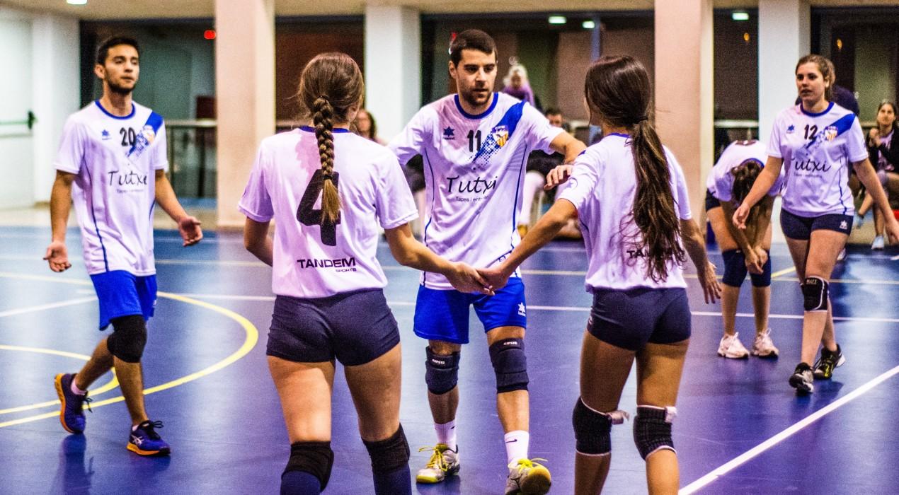 Primera victòria del CEB Vòlei Berga (2-3)