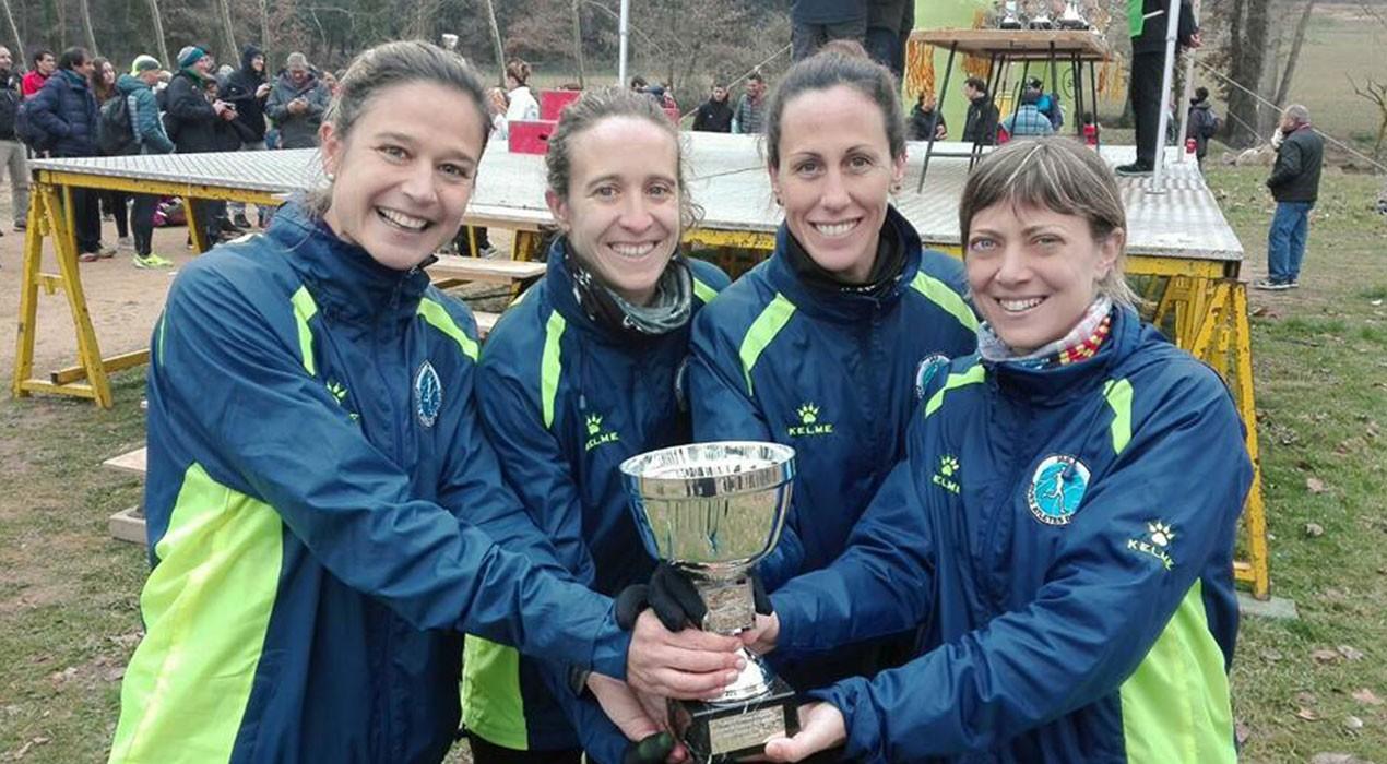 L'equip femení del JAB, campió de Catalunya de cros veterà
