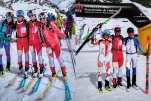 Èxit dels Mountain Runners a les categories base del campionat de Catalunya d'Esquí Individual