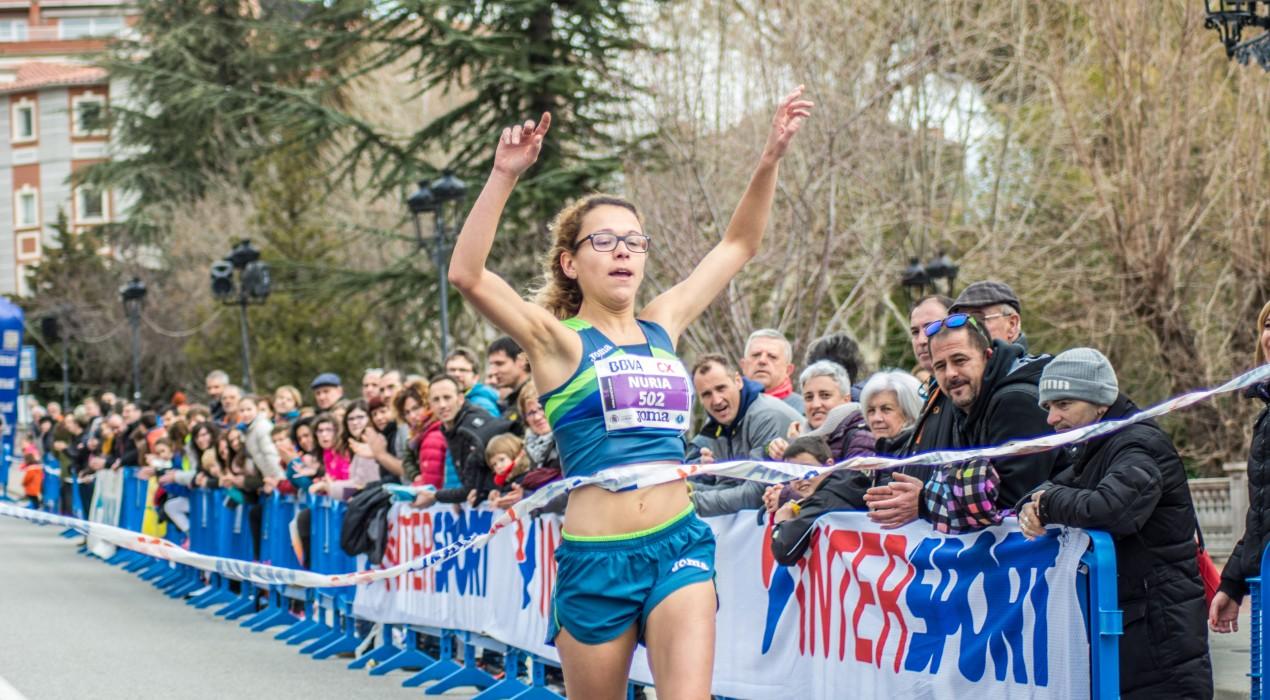 Toni Bernadó, Anna Garcia, El Mehdi Aboujanah i Núria Cascante guanyen els 5 i 10km urbans de Berga