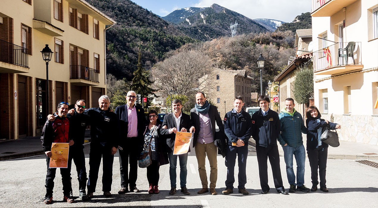 Els Bombers aposten un any més per Sant Jordi de Cercs per fer-hi la seva cursa solidària de muntanya