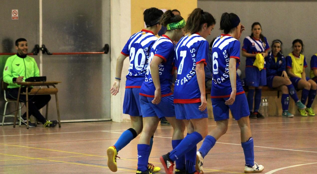 El filial femení del FS Casserres ja és líder de Segona Catalana (2-3)