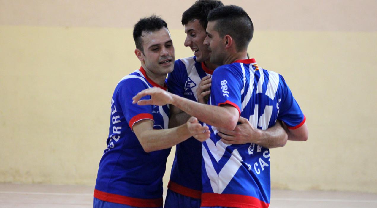 Primera victòria de la temporada del sènior masculí del FS Casserres (3-1)