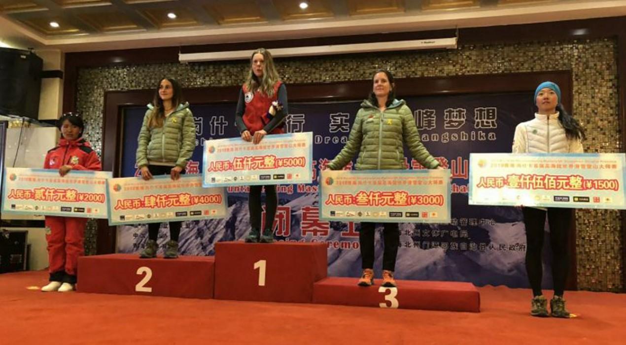 Clàudia Sabata puja als dos podis del World Ski Mountaineering Masters 2018 de la Xina