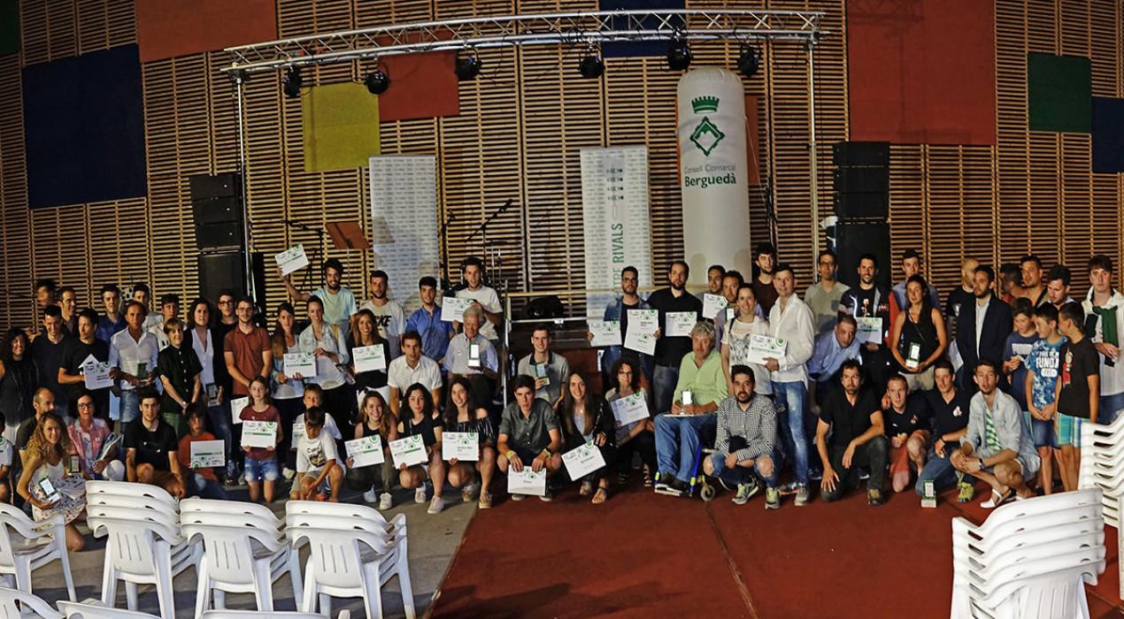 Tots els premiats a la Nit de l'Esport Berguedà 2018