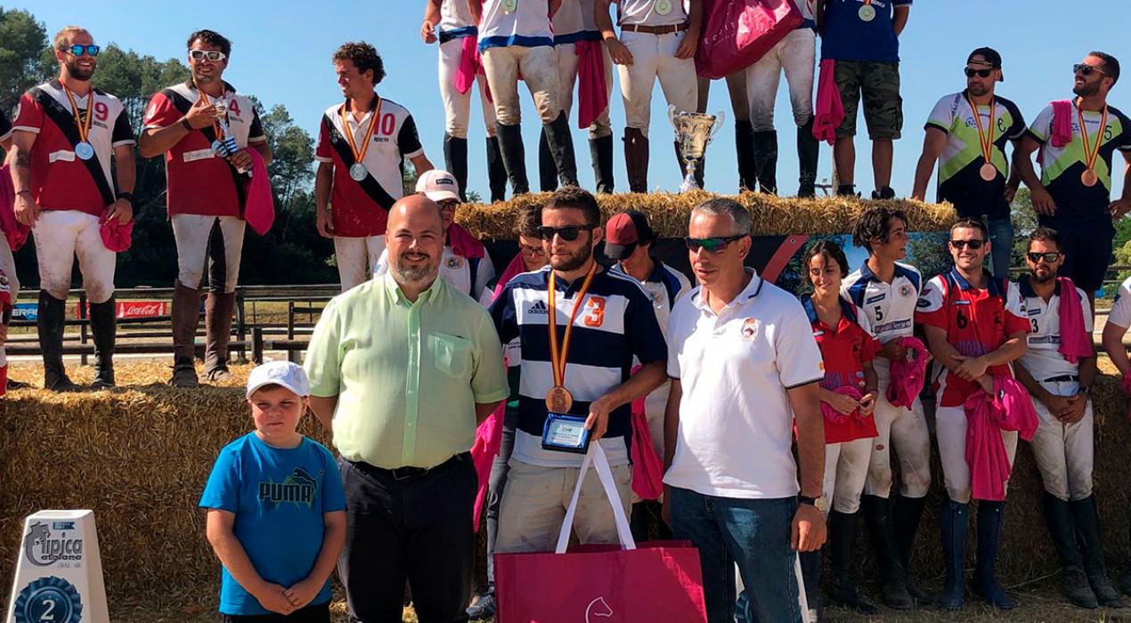 El berguedà Nil Seall fa podi amb El Serrat de Moià al campionat d'Espanya de Horseball