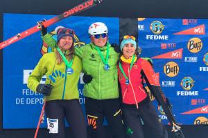 Clàudia Sabata puja al podi de la Copa d'Espanya d'esprints d'esquí de muntanya