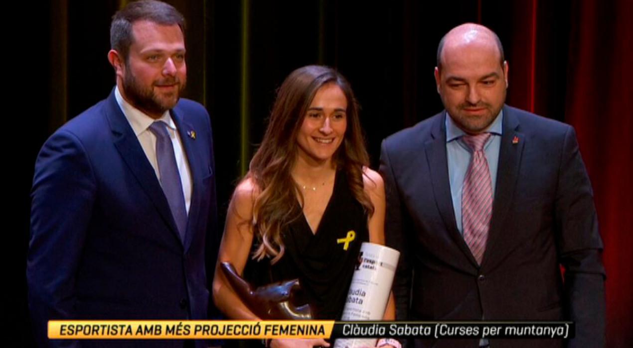 Clàudia Sabata rep el premi a l'esportista amb més projecció de Catalunya