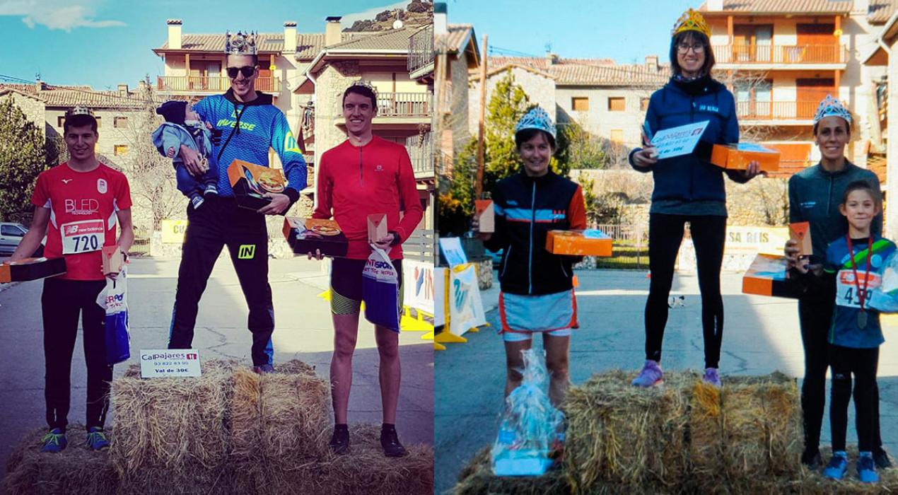 Xavi Tomasa i Anna Garcia brillen en la primera cursa atlètica de l'any al Berguedà