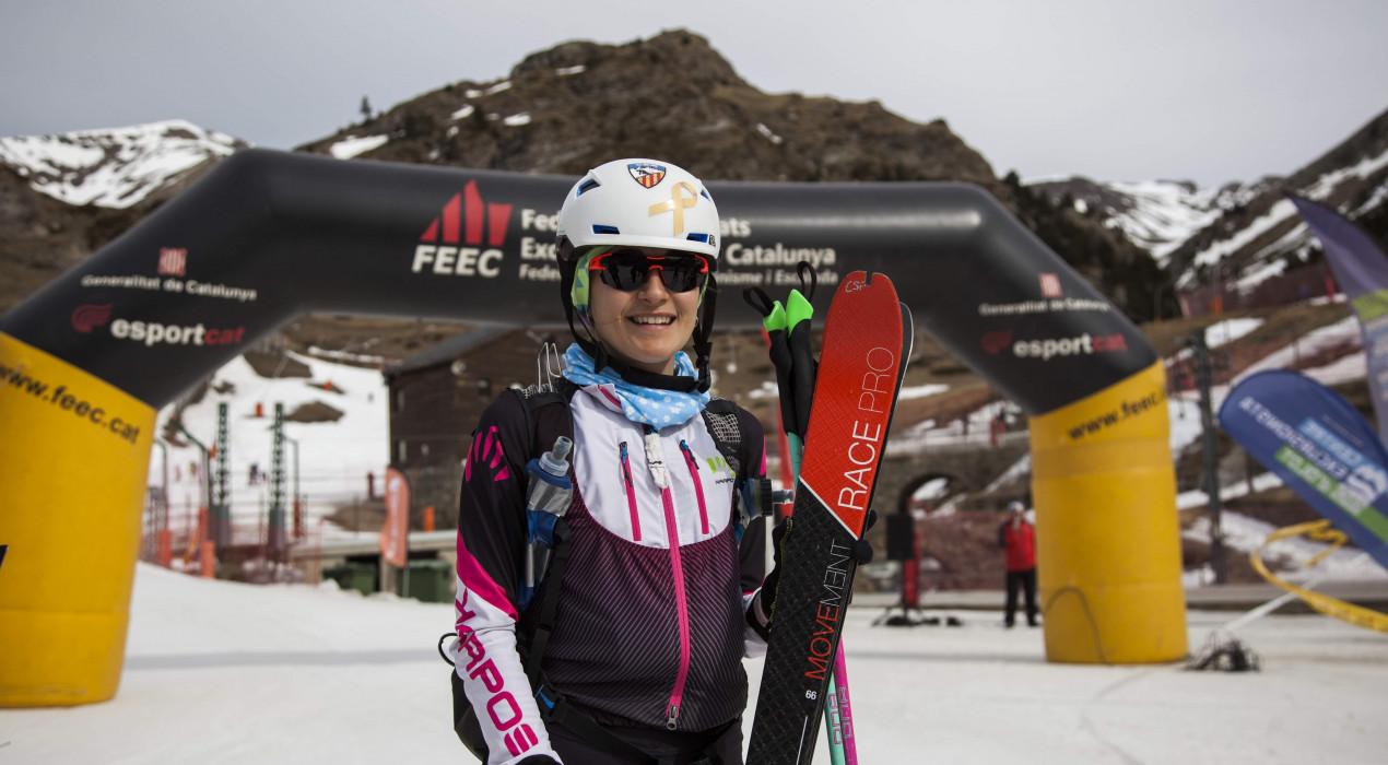 Clàudia Sabata es proclama campiona de Catalunya d'esquí de muntanya