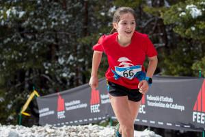 Alba Xandri i Martina Gonfaus, segona i tercera al Campionat de Catalunya de Verticals, a la Nou