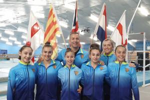 La selecció catalana de gimnàstica, amb dues gironellenques, arrasa a l'internacional de Londres