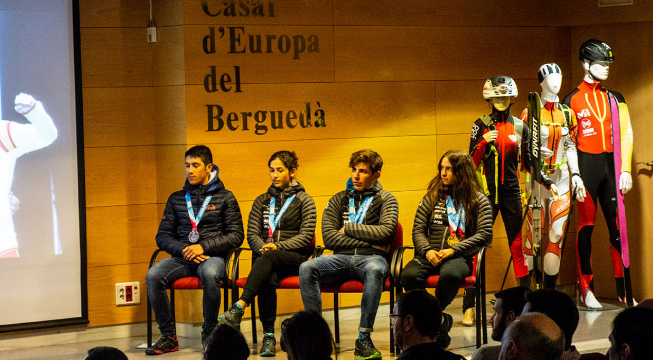 Sentit homenatge als medallistes olímpics d'esquí de muntanya a Berga