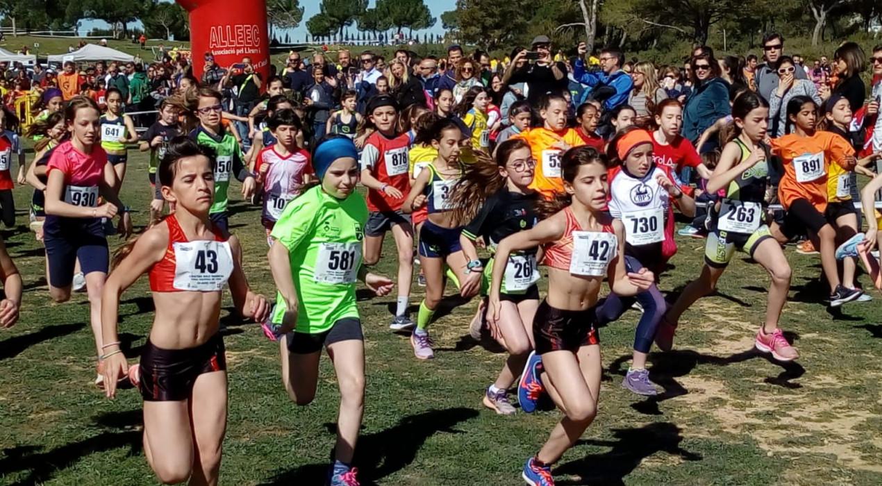 El Berguedà triomfa a la final nacional de cros escolar: dos ors, quatre plates i dos bronzes