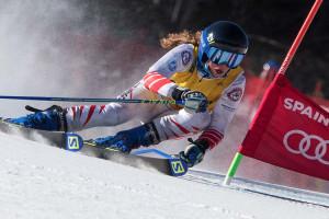 Triple victòria d'Aura Coronado, que continua líder incontestable de la Copa d'Espanya d'esquí alpí