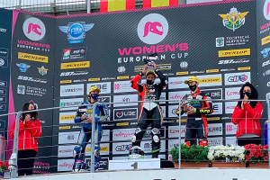 La gironellenca Sara Sánchez, primera líder del campionat d'Europa de motociclisme femení